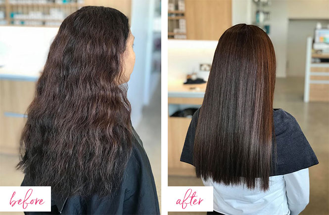 Agi Hair Treatment before and after