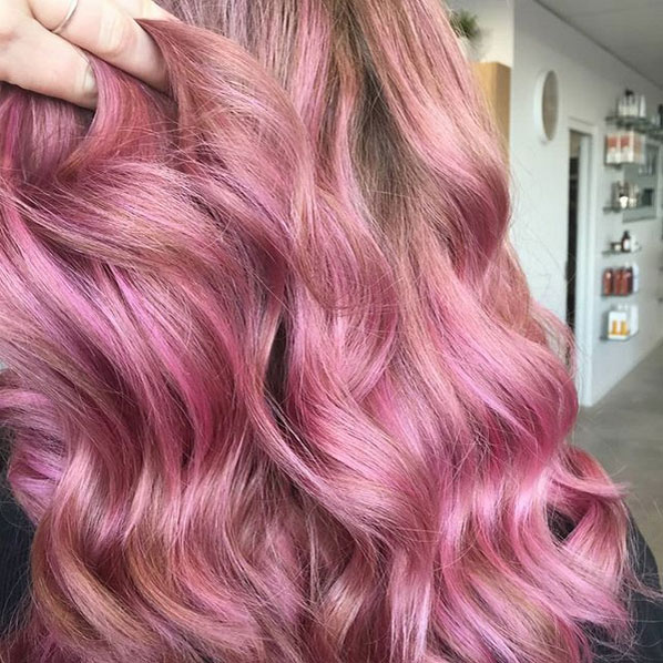 Blonde with pastel shade